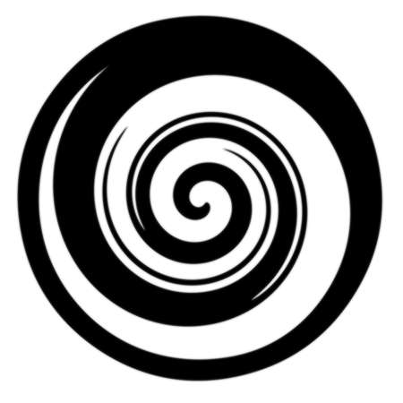 Picture of  black spiral Isolated  Stock Photo - 15463324