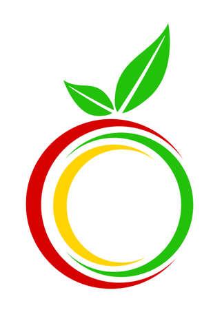 白色背景上的一個蘋果的插圖