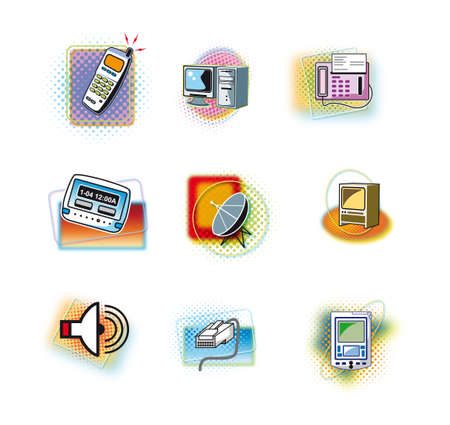 Set of home appliances icons Stock Vector - 15463319