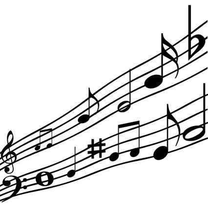Music notes illustration isolated on white background