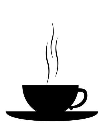 tasse: Chaud illustration tasse de caf� pour les logos de caf�-restaurant isol� sur fond blanc vecteur
