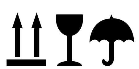 fragile: Fine image of fragile symbol on white  vector