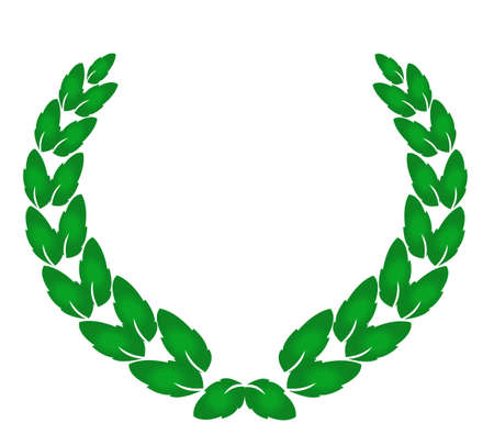 laurel leaf: Corona de laurel, premio tradici�n, s�mbolo Vectores