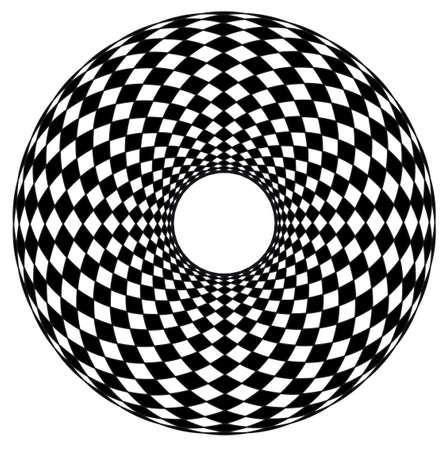 fancy border: Marco negro del c�rculo ornamental, abstracto, aislado Vectores