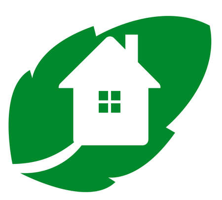 Logo eco house - illustration isolates on white Vector