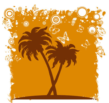 moder: Summer background with palm trees