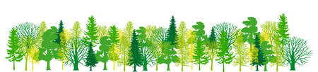 illustration of trees forming a tiny forest  Stock Vector - 15894136