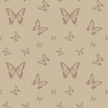 seamless texture butterfly,illustration Stock Vector - 15894108