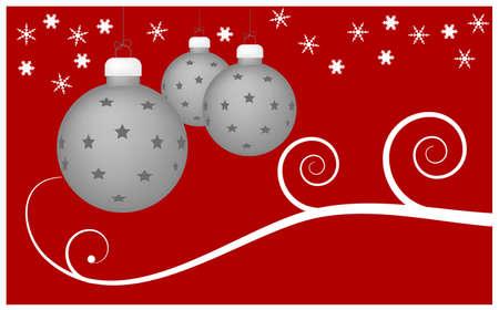 Christmas Balls -  illustration as christmas background Vector