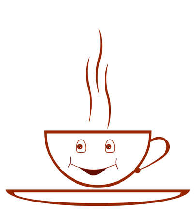 Warm coffee cup illustration for coffee shop logos Vector