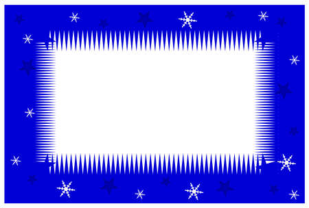 Blue Christmas frame on a white background  Vector