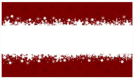 pape:  red Christmas banners isolated on white background