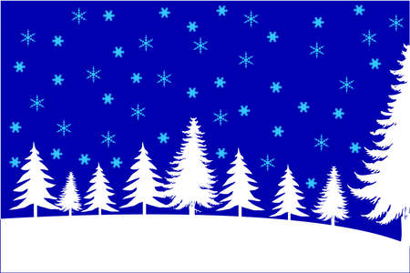 Blue christmas background, vector illustration. Vector
