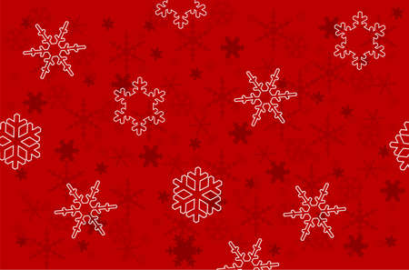 Christmas and New Year's background is decorated with white pattern on a red background.  Stock Vector - 16244715