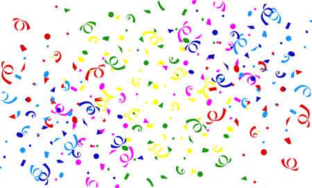 feste feiern: Sinkende Konfetti und Luftschlangen Hintergrund