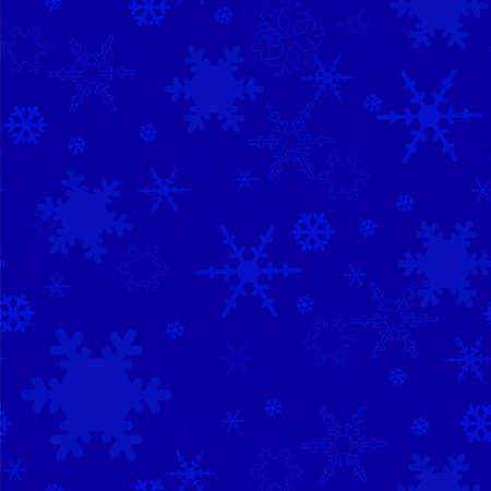 beautifu: dark blue seamless texture with snowflakes