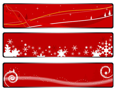 Three banner illustrations on a Christmas theme  Stock Vector - 16398729