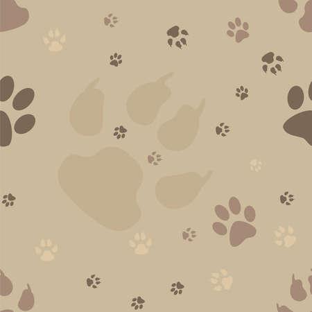 háziállat: Kutya mancs nyomatok seamless pattern Illusztráció