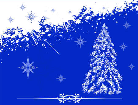Blue color Christmas background,  illustration layered  Stock Vector - 16398753