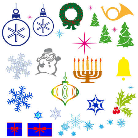 illustration - set of christmas icons Stock Vector - 16398746