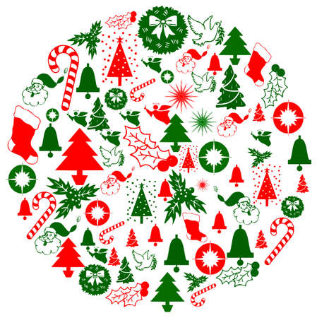 Seamless christmas background with deers Vector