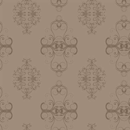 seamless damask pattern in beige colours Stock Vector - 16477851