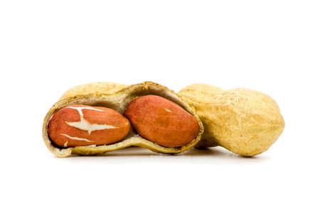 monkey nut:  Roasted Peanuts Isolated on White Background