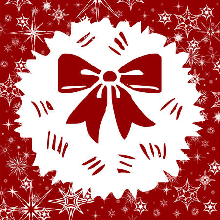 Red Christmas background with snowflakes  Stock Vector - 16770776