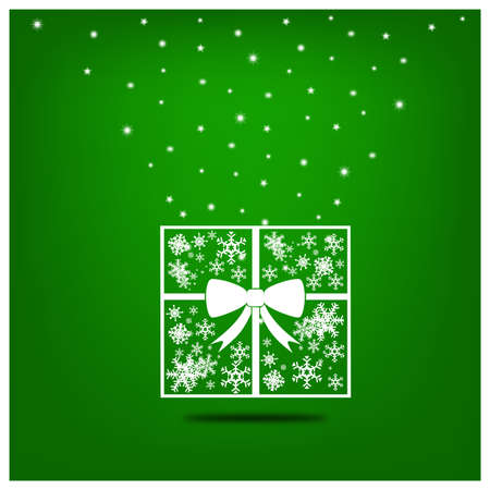 Christmas background. Gift box with ribbon.  Stock Vector - 16858931