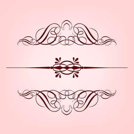 Vintage floral frame. Element for design.  Stock Vector - 16858916