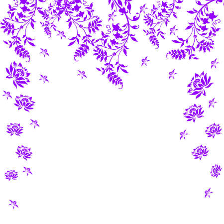 Violet floral card on a white background Vector