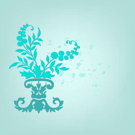 Abstract floral design  Vector illustration   Stock Vector - 16909024
