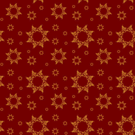 Red and gold Christmas vector seamless pattern or background  Vector