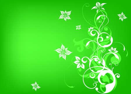 Flower background with bud, element for design, vector illustration  Stock Vector - 16909022