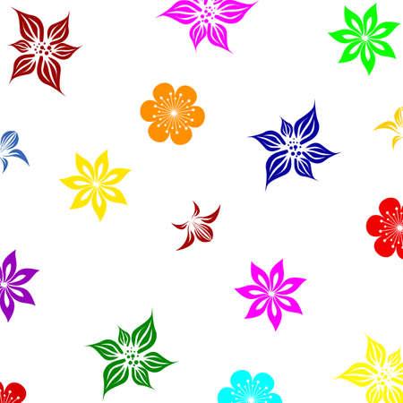 Summer flowers background  Illustration vector   Stock Vector - 16909013