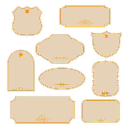 Vector vintage labels  Stock Vector - 17041013