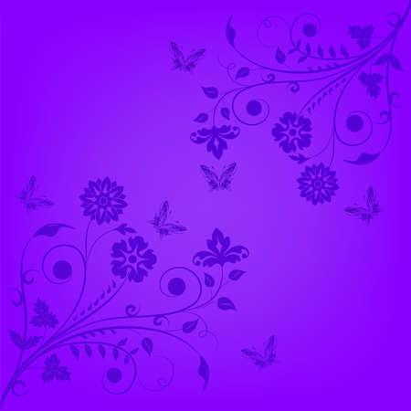 Violet floral banner, background, illustration  Vector