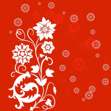 Background flower, elements for design, illustration Stock Vector - 17121718
