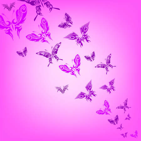 Colorful background with butterfly  Vector   Vector