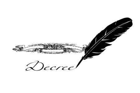 decree: feather writes royal decree
