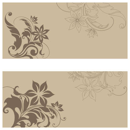 Set of floral invitation cards   Stock Vector - 17121694