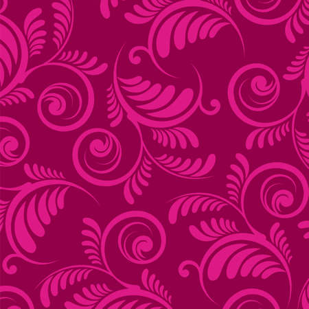 floral pattern  Rose flowers on a red background   Vector