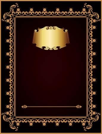 Invitation vintage card  artistic background Stock Vector - 17371489
