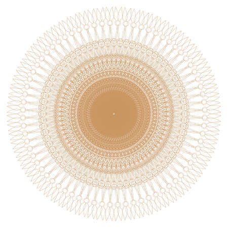 Decorative gold and frame with vintage round patterns on white  Stock Vector - 17778495