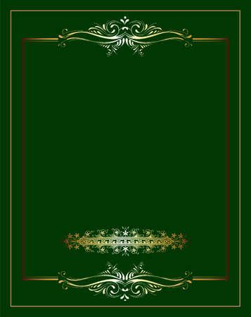 copertina libro antico: Vintage sfondo, cornice oro antico, ornamento vittoriano, bella vecchia carta, certificato, premio, diploma reale, copertina ornato, lusso floreale ricco ornamentale Vettoriali