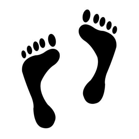 medical scans: foot prints  two black man footprints   Illustration