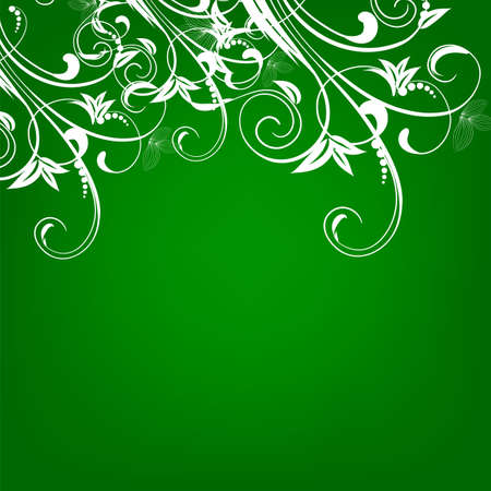 Floral greeting card ,abstract, background,  Vector