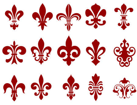 royal french lily symbols: Lily flower  image isolated on white background
