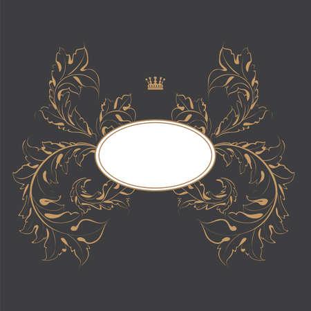 dark formal card design best for wedding, events, christmas  Vector