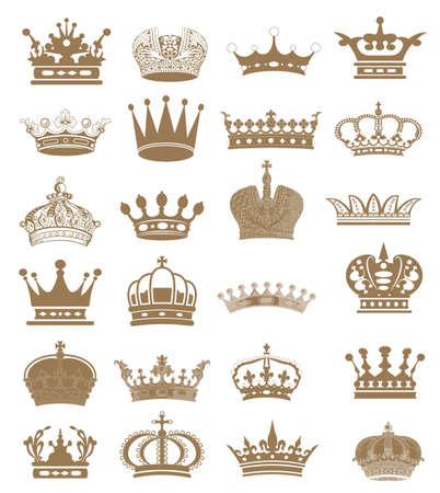 corona de princesa: corona corona colecci�n conjunto, silueta corona